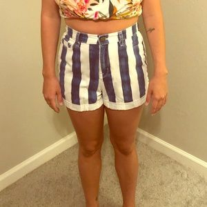 Classic striped mom high rise BDG shorts